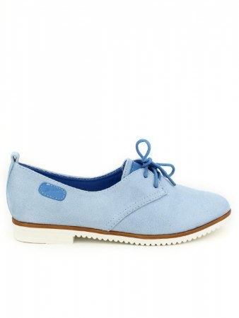 Derbies simili peau bleue ciel LADY GLORY