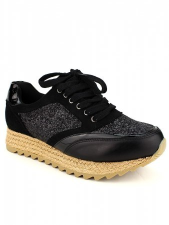 Basket Mode Espadrilles Black CREATION, image 02
