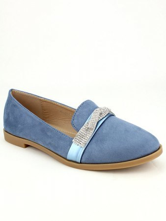 Derbies simili bleue SIXTH SENS Strass, image 02