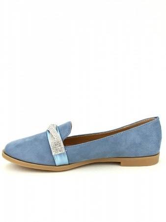 Derbies simili bleue SIXTH SENS Strass, image 03