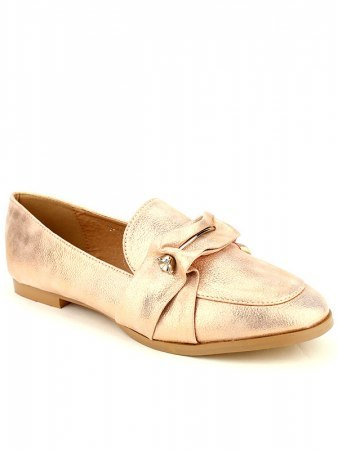 Derbies color Champagne LADY GLORY avec broche, image 03