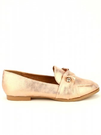 Derbies color Champagne LADY GLORY avec broche