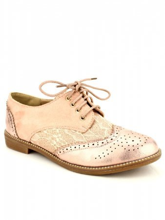 Derbies color pink dentelle POP'S, image 02