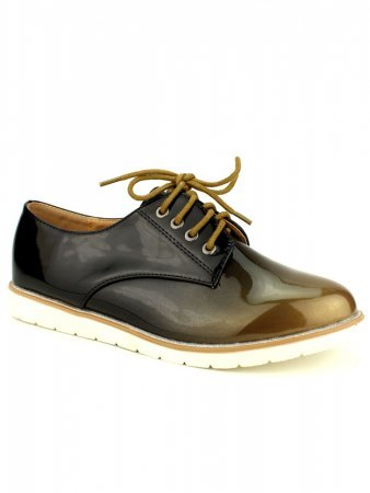 Derbies vernies Bi color WEIDES Moutarde, image 02
