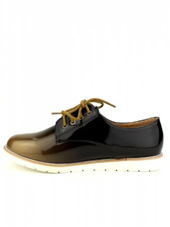 Derbies vernies Bi color WEIDES Moutarde, image 03
