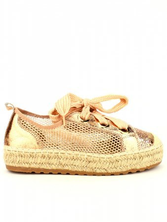 Espadrille color Champagne SEASON Paillettes