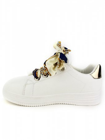 Sneakers blanche Lacet LOOKS, image 02