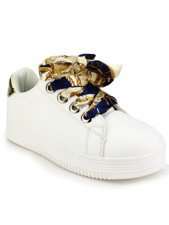 Sneakers blanche Lacet LOOKS, image 03