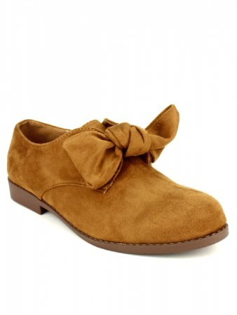 Derbies camel simili peau GIRLWOOD, image 02