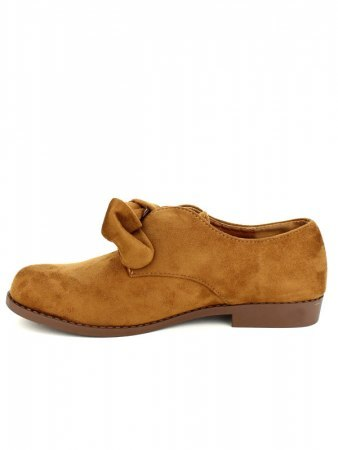 Derbies camel simili peau GIRLWOOD, image 03