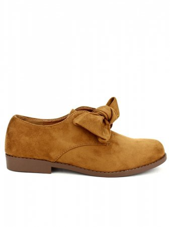 Derbies camel simili peau GIRLWOOD