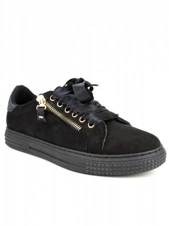 Baskets Noires Paillettes CINKS, image 02