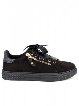 Baskets Noires Paillettes CINKS
