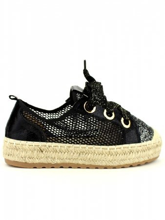 Espadrille color Noir SEASON Paillettes