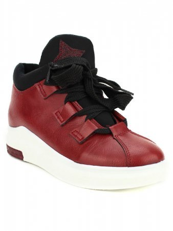 Basket bordeaux simili BELLOS, image 02