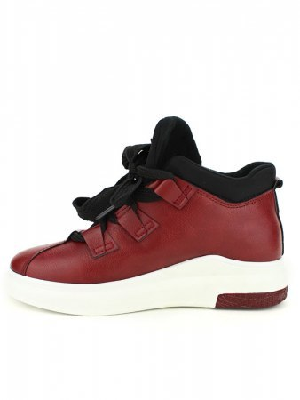 Basket bordeaux simili BELLOS, image 03