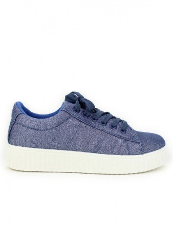 Basket Blue paillettes CK MODA