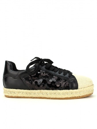 Basket Noire brillant LADY GLORY