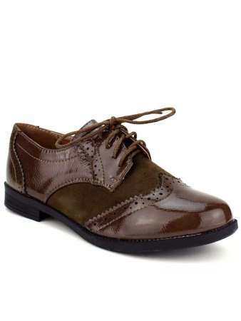 Derbies marron verni CINKS LOOK, image 02