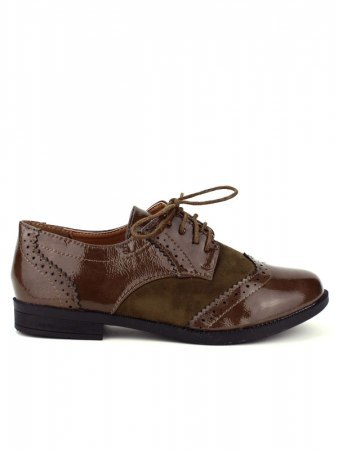 Derbies marron verni CINKS LOOK