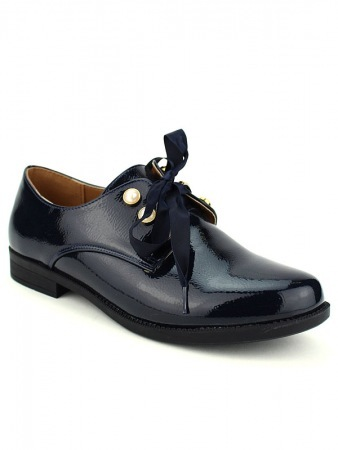 Derbies Blue marine vernies CINKS LOOKS, image 02