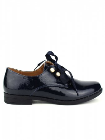 Derbies Blue marine vernies CINKS LOOKS