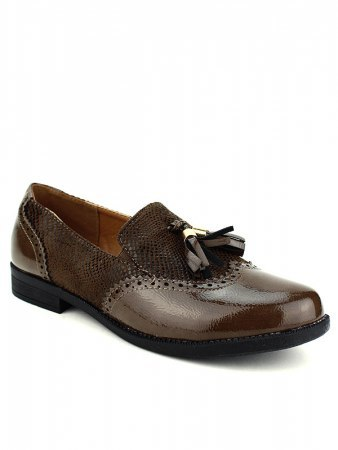 Derbies marron bi matière CINKS