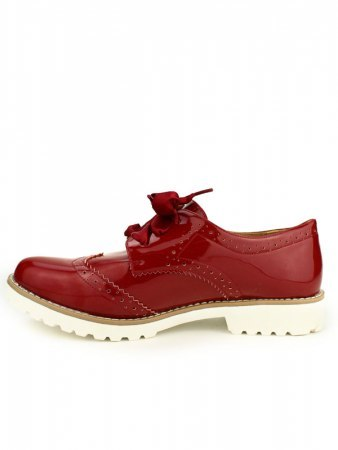 Derbies rouge vernies C'M , image 03