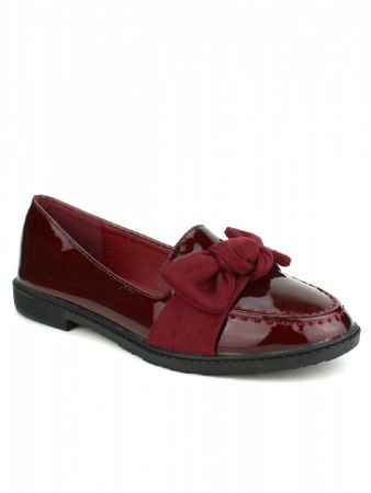 Derbies vernies color bordeaux JEOS, image 02