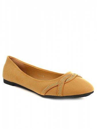 Ballerines Caramel CINKS LOOKS Strass, image 02