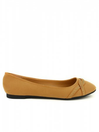 Ballerines Caramel CINKS LOOKS Strass