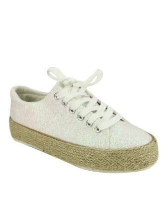 Basket façon espadrille rose TONY AND CO, image 02