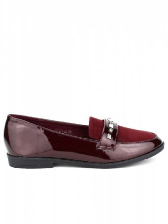 Derbies Bordeaux CINKS MODA Vernies