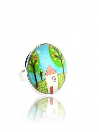 Bague Multicolore Dome Vintage HOME
