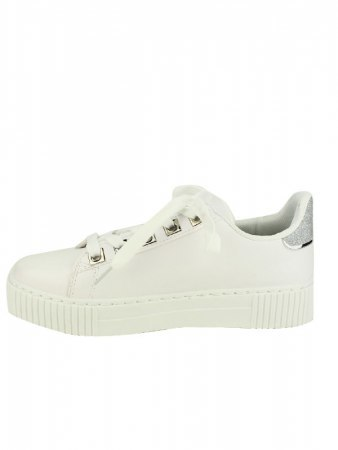 Sneakers blanches EXQUILY Rivets paillettes, image 03