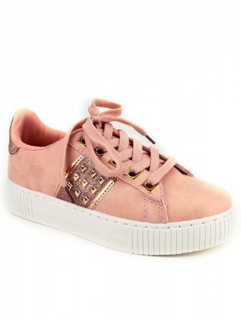 Sneakers Rose EXQUILY Rivets paillettes, image 02