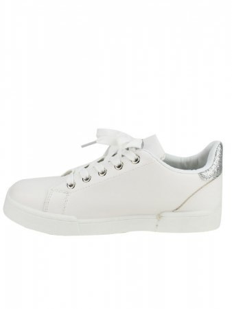 Sneakers Blanches BELLO STAR paillettes argentées, image 03