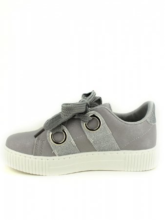 Sneakers Grises avec paillettes BE SPORT LOOK, image 03