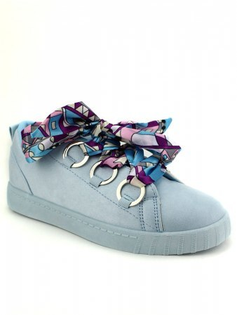 Sneakers Bleues lacets COCO LO, image 02