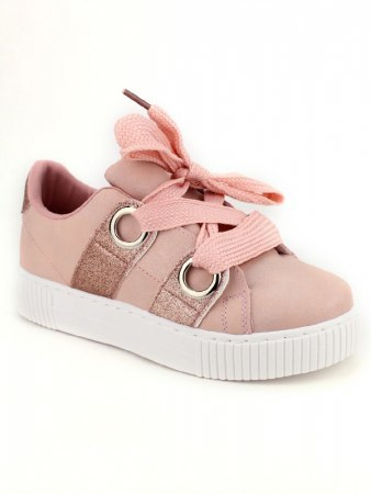 Sneakers Rose avec paillettes BE SPORT LOOK, image 02