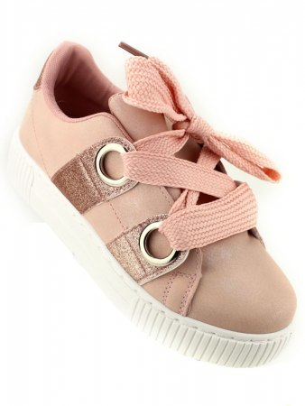 Sneakers Rose avec paillettes BE SPORT LOOK, image 03