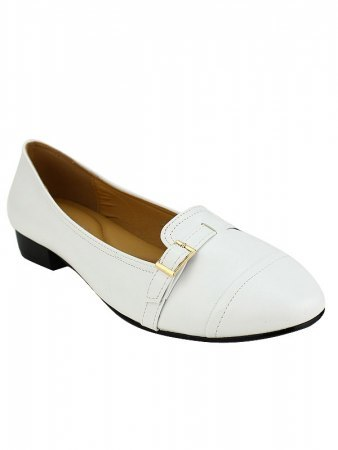 Ballerines Blanches M&L SHOES, image 02