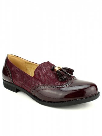 Mocassins bordeaux M&L SHOES, image 02