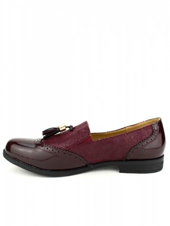 Mocassins bordeaux M&L SHOES, image 03