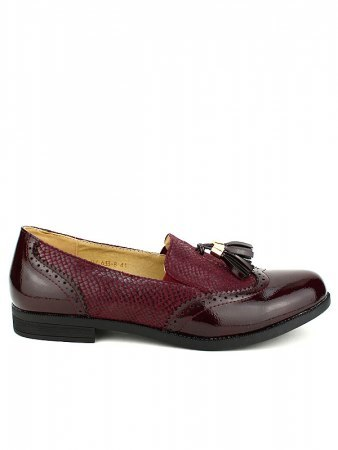 Mocassins bordeaux M&L SHOES