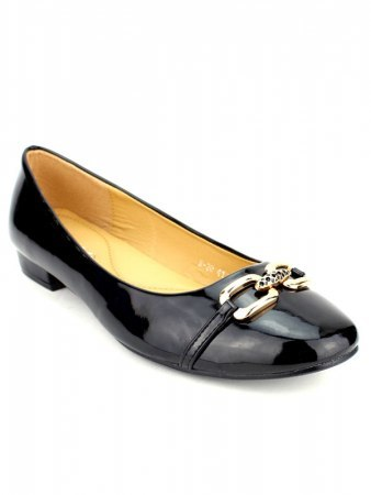 Ballerines Noires Vernies M&L SHOES, image 02