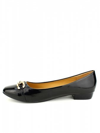 Ballerines Noires Vernies M&L SHOES, image 03
