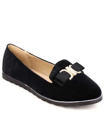Derbies noires Velours COCO MODA