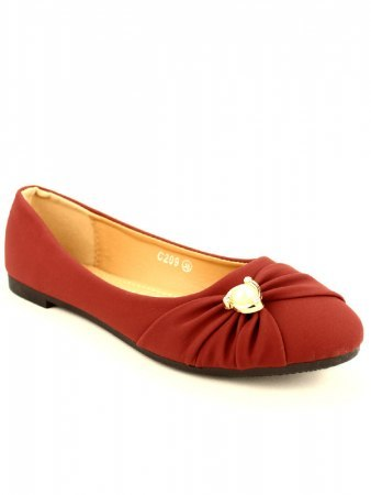 Ballerine Bordeaux Perles FLAMS, image 02