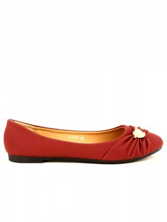 Ballerine Bordeaux Perles FLAMS